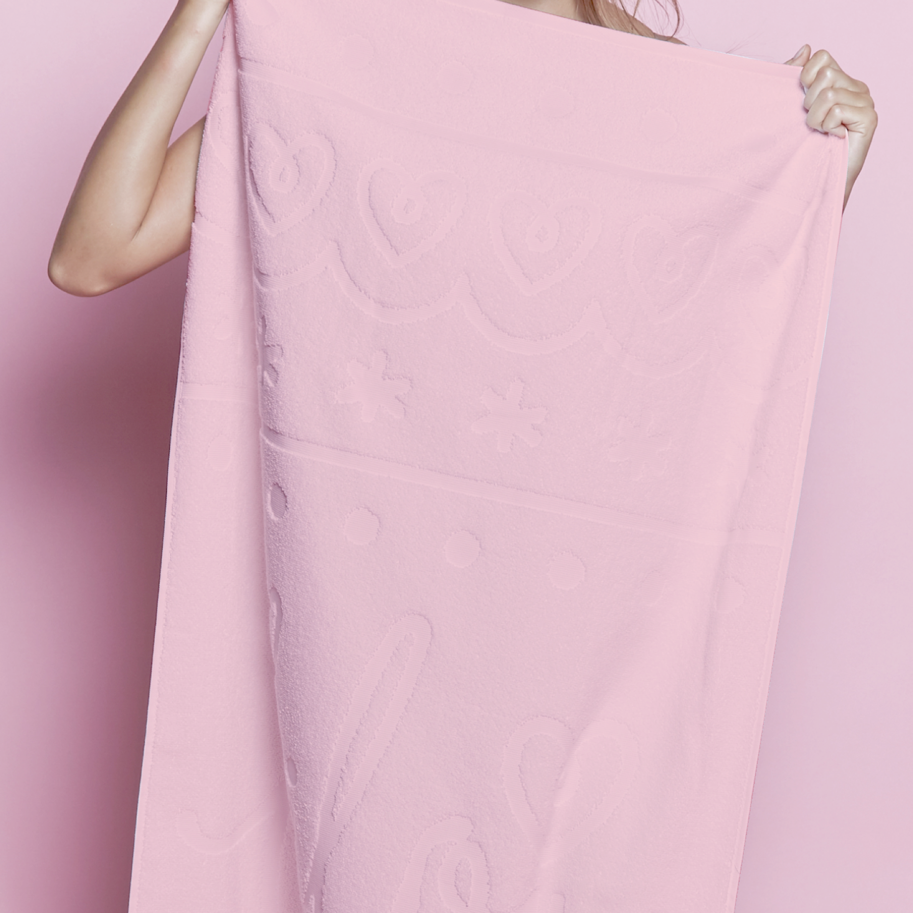Preview bilou shower towel pink