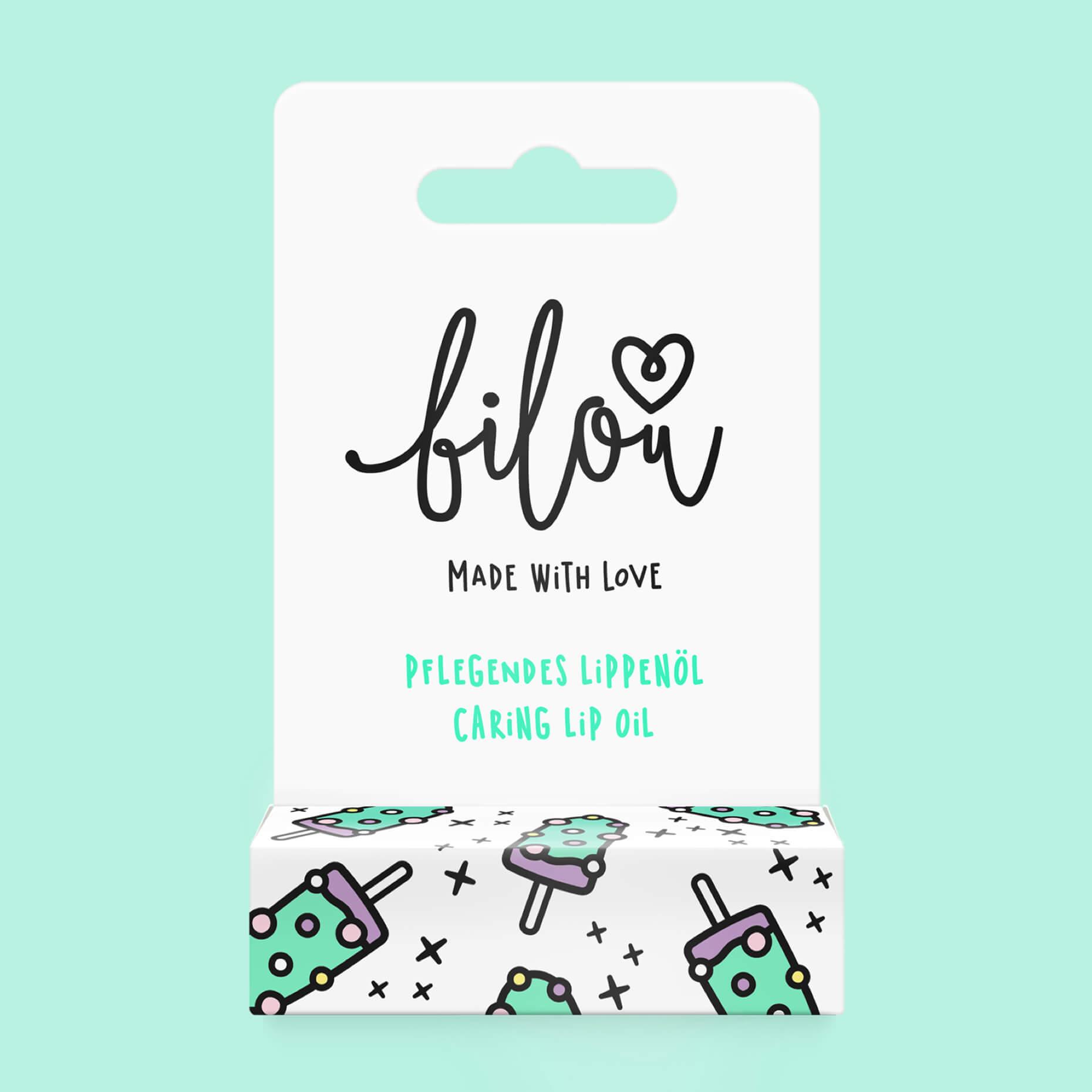 Preview bilou lip oil Frosty Mint packaging