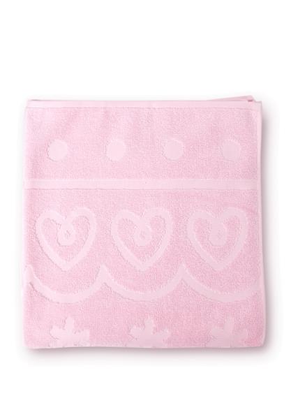 bilou shower towel pink